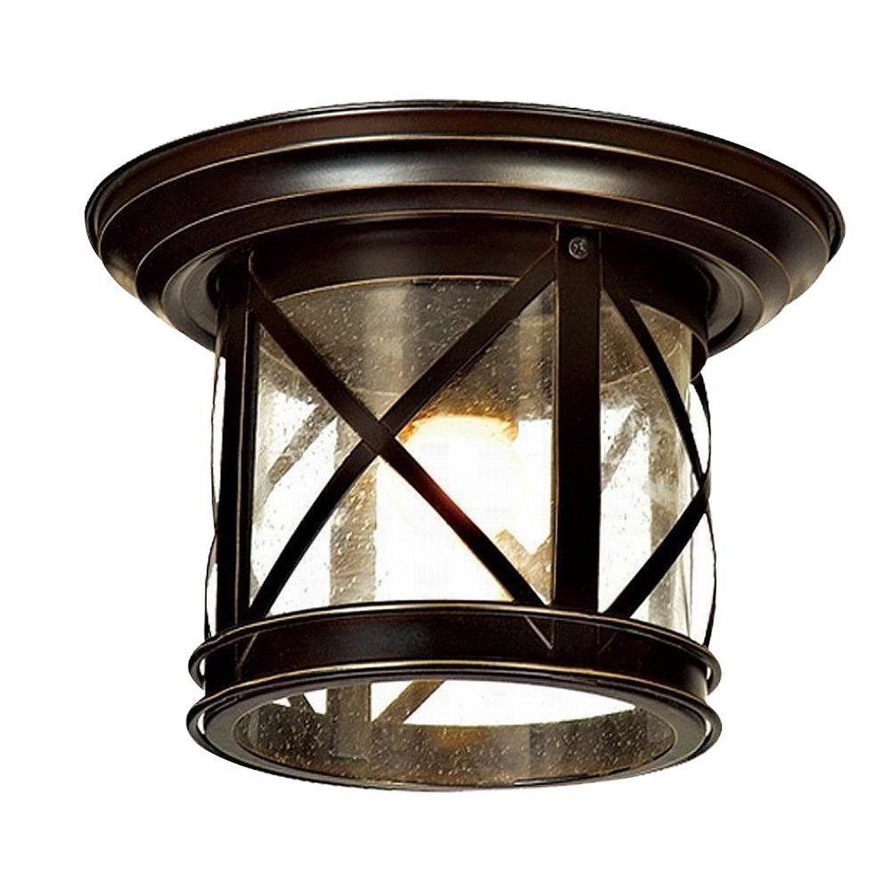 Y Decor Elli Sandy Black 1 Light Outdoor Flushmount El5041fm The Home Depot Outdoor Ceiling Lights Outdoor Lighting Outdoor Flush Mounts