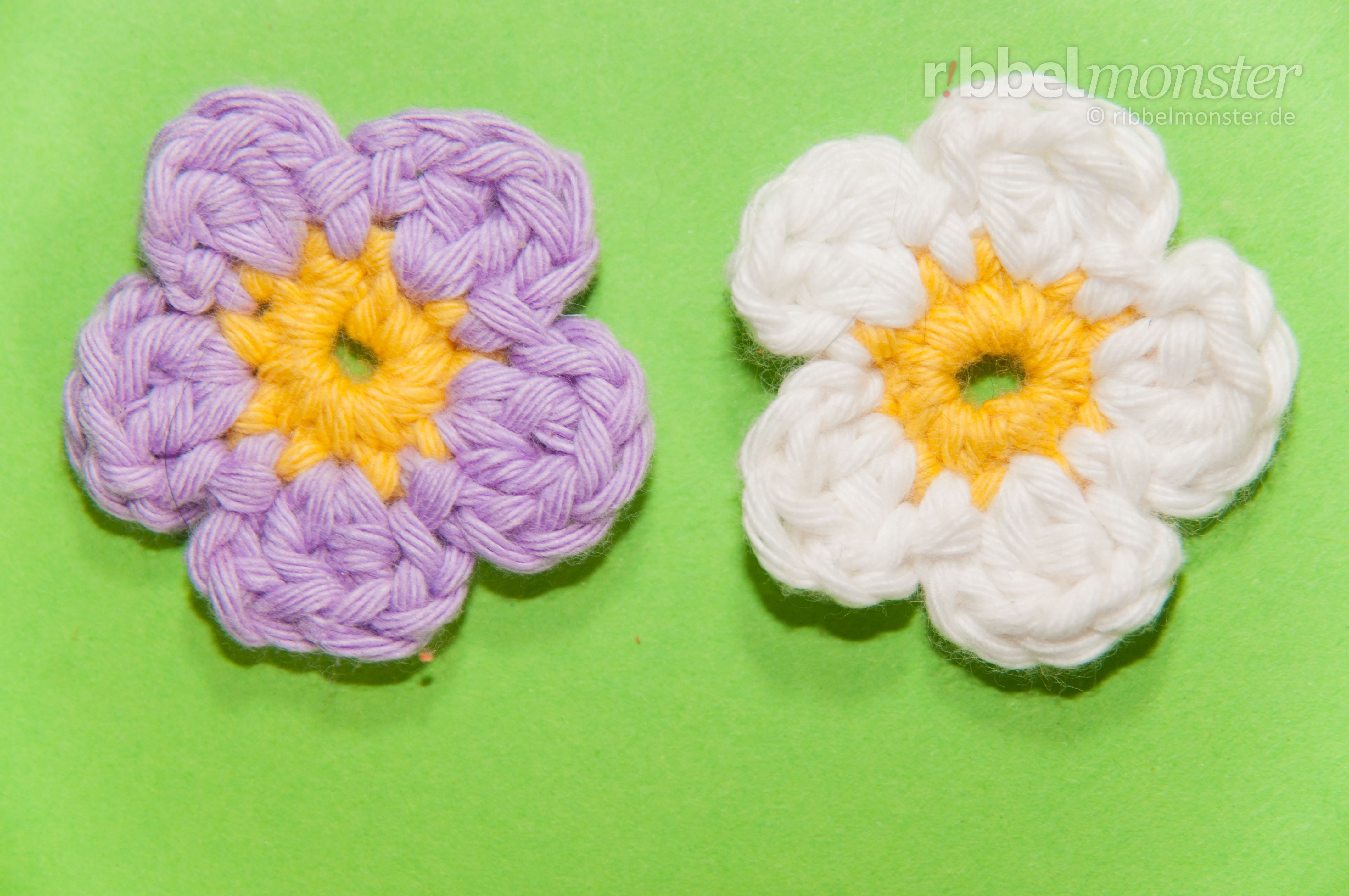 Blüten häkeln - Anleitung, Häkelanleitung | Flor en crocheth ...