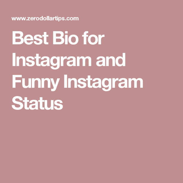 Best Bio For Instagram And Funny Instagram Status On Board Magnificent Good Quotes For Instagram Bio