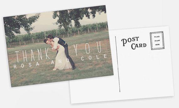 Wedding THANK YOU Postcards    ---------------------------------{ 2 OPTIONS }----------------------------------------    OPTION 1) Purchase design
