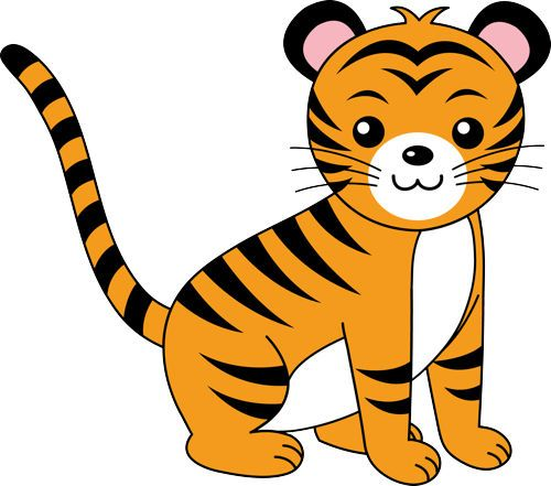 tiger clip art clipart panda free clipart images clip art rh pinterest ca tiger clipart pictures tiger clipart for kids