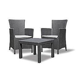 Allibert Rosario Balcony Set Graphite Grey Furniture Garden