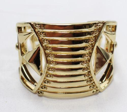 Belle Noel Gold Tone Cutout Cuff Bracelet NWOT - http://designerjewelrygalleria.com/belle-noel/belle-noel-gold-tone-cutout-cuff-bracelet-nwot/