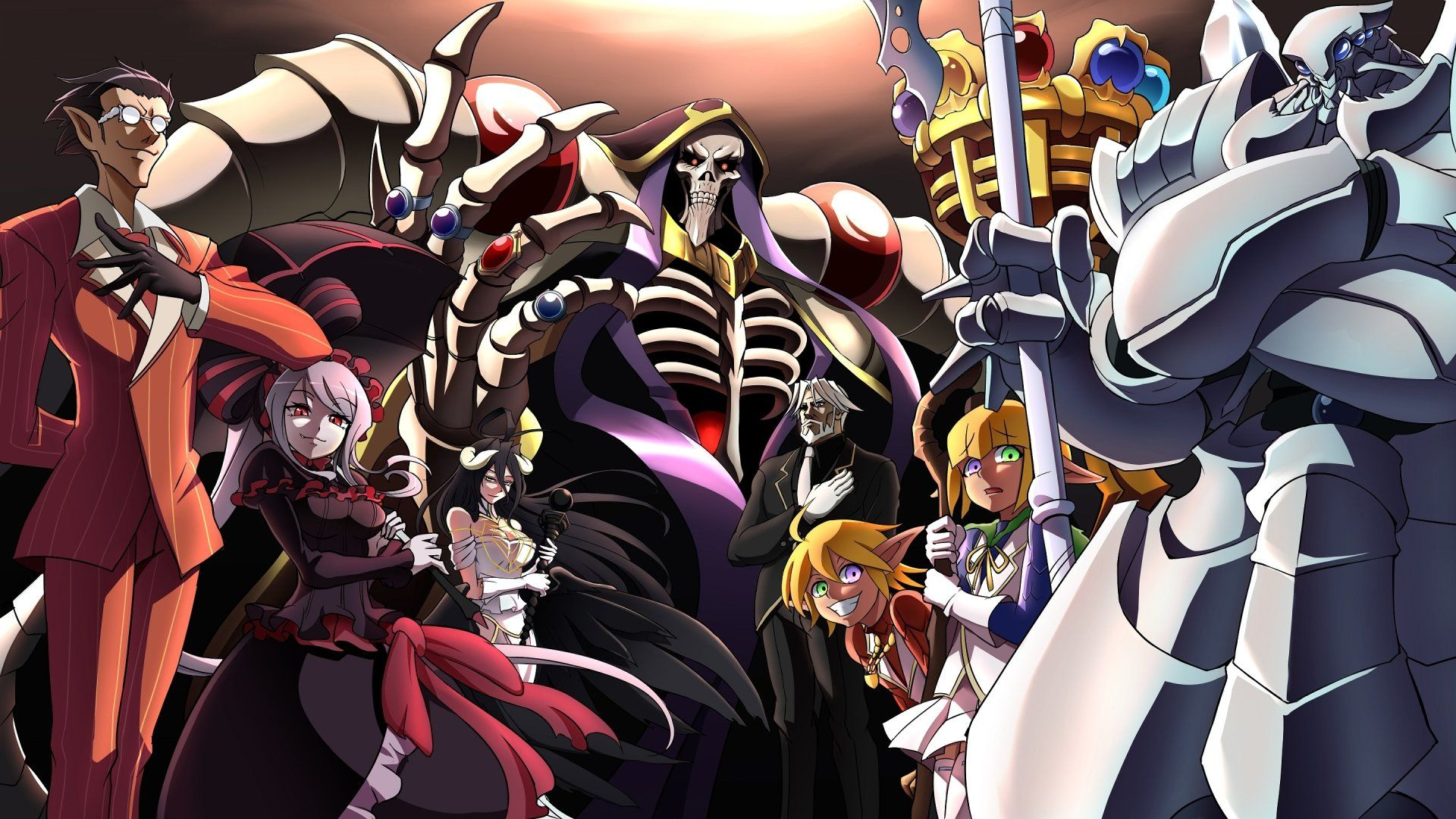 Anime Overlord Overlord Anime Demiurge Overlord Shalltear Bloodfallen Albedo Overlord Ainz Ooal Gown Albedo Videojuegos Fondos De Pantalla Pc