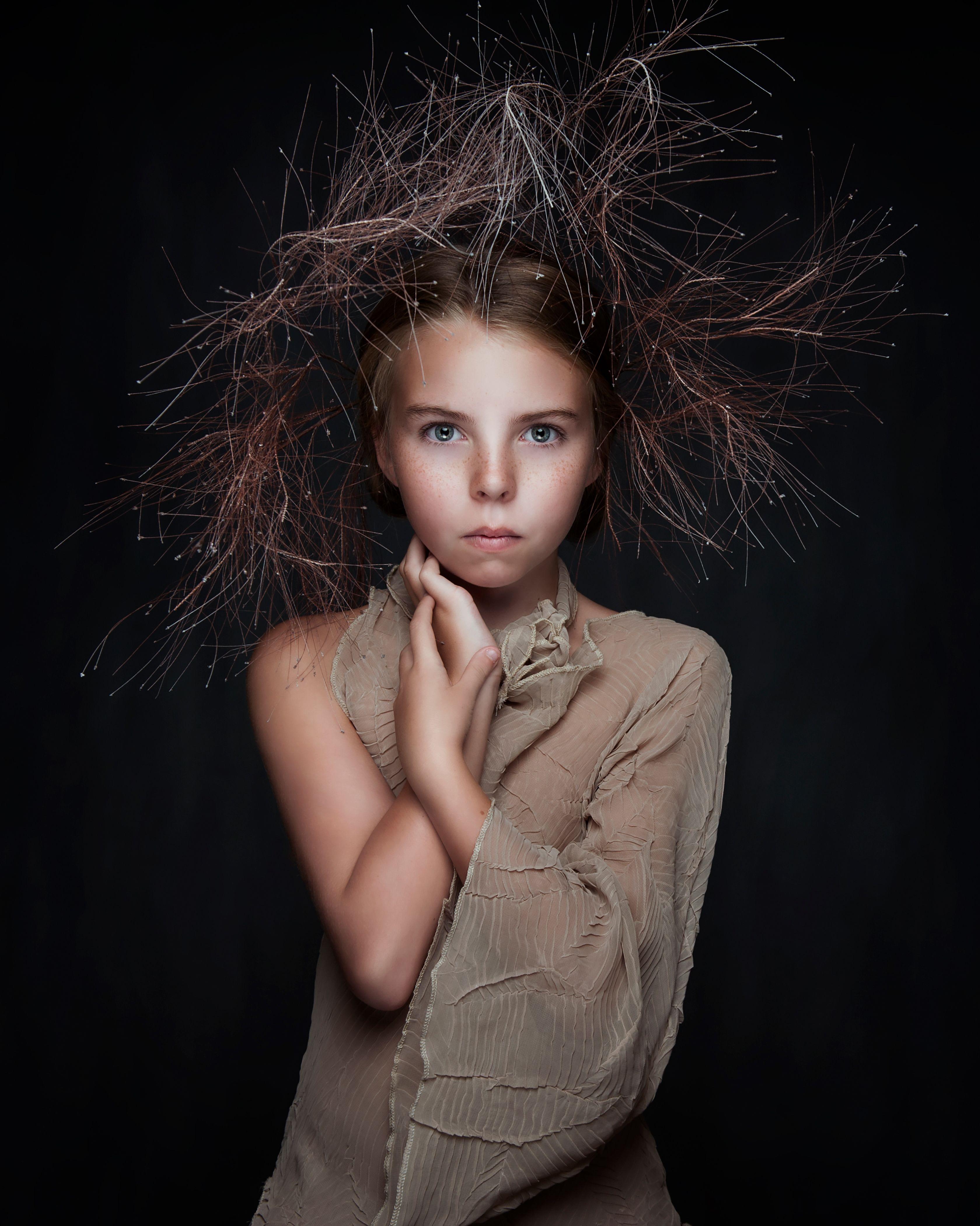 прическа, уверенность идеи фото для портретной съемки этой