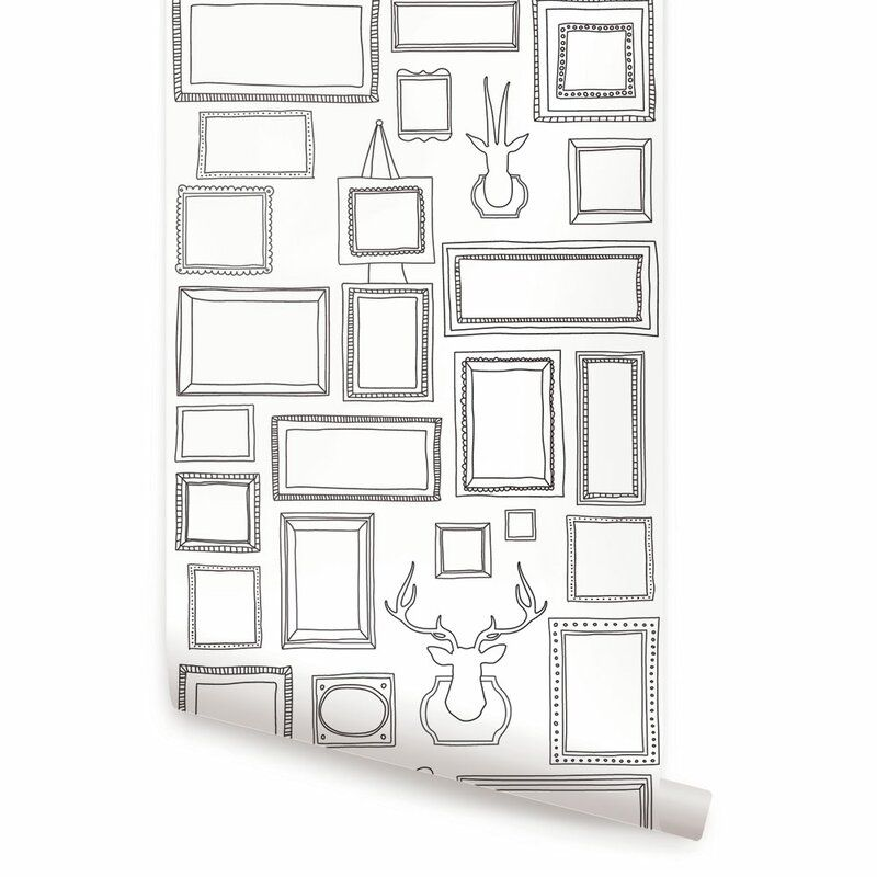 Peel And Stick Frames Roll Wallpaper Fabric Wallpaper Framed Wallpaper Peel And Stick Wallpaper