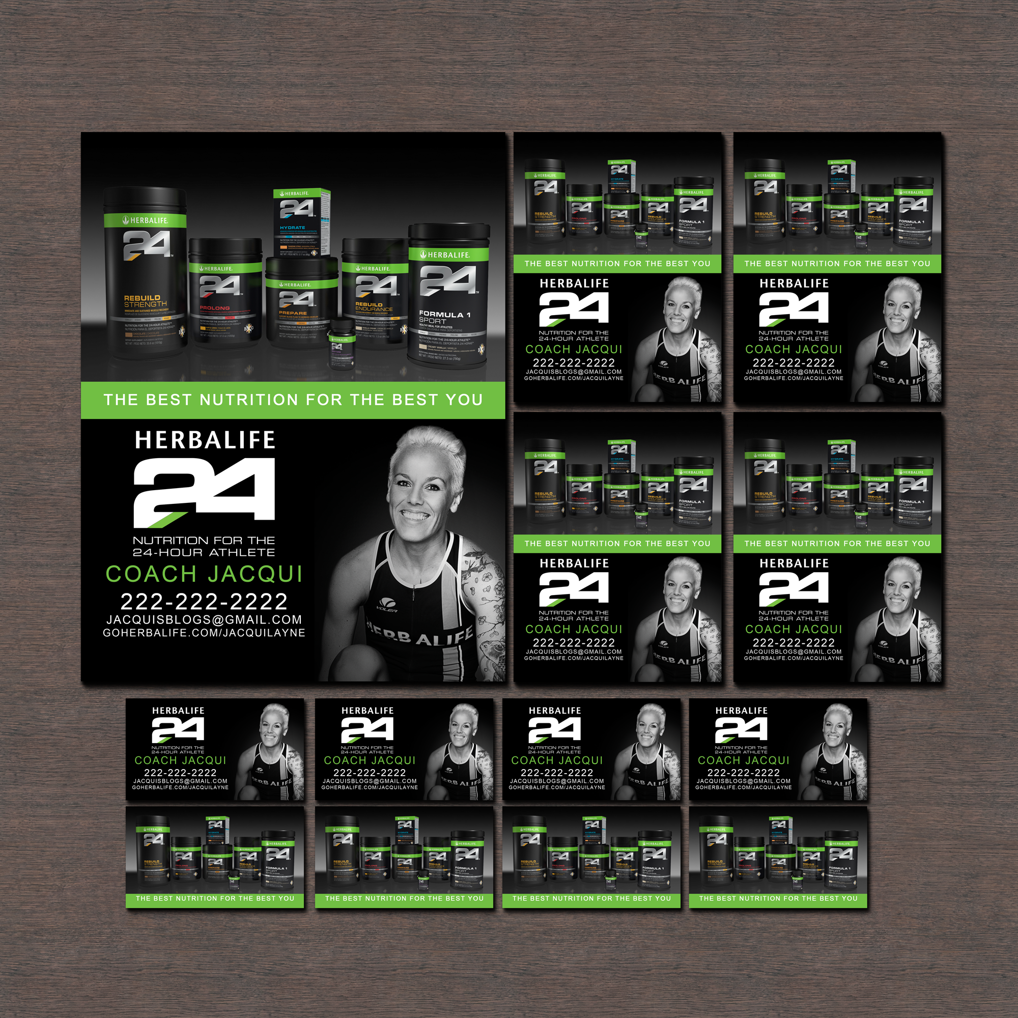 new listings herbalife business cards and flyers