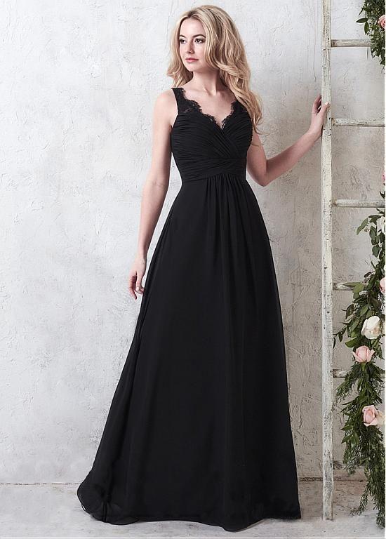 Buy discount Exquisite Lace & Chiffon V-Neck Neckline A-Line Bridesmaid Dresses at Dressilyme.com