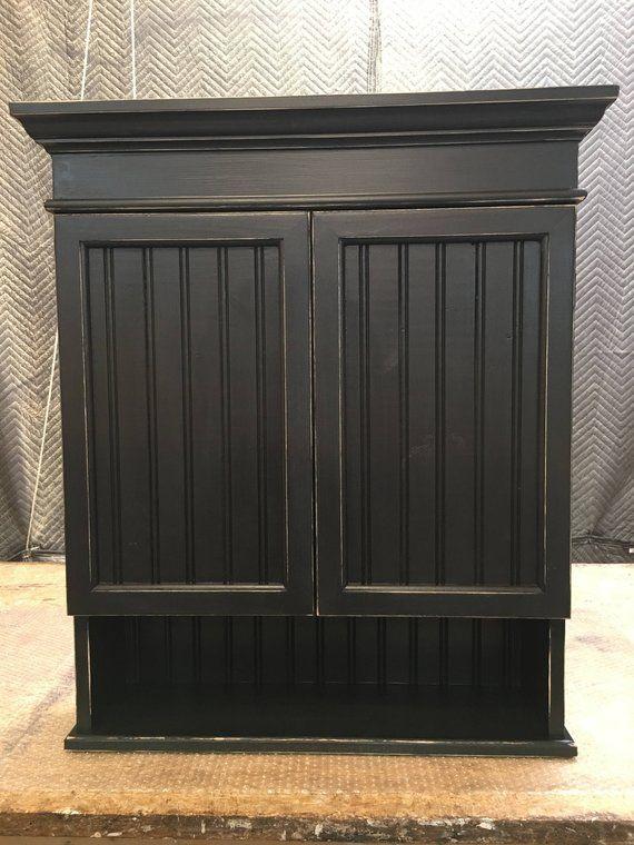 Distressed Black Cabinet, Bathroom Cabinet, Kitchen ...