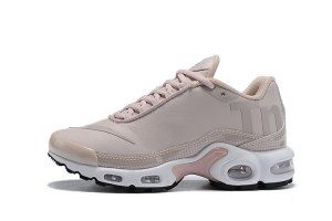 3fea09ecf Womens Nike Mercurial Air Max Plus Tn Running Shoes Leather Beige Pink White