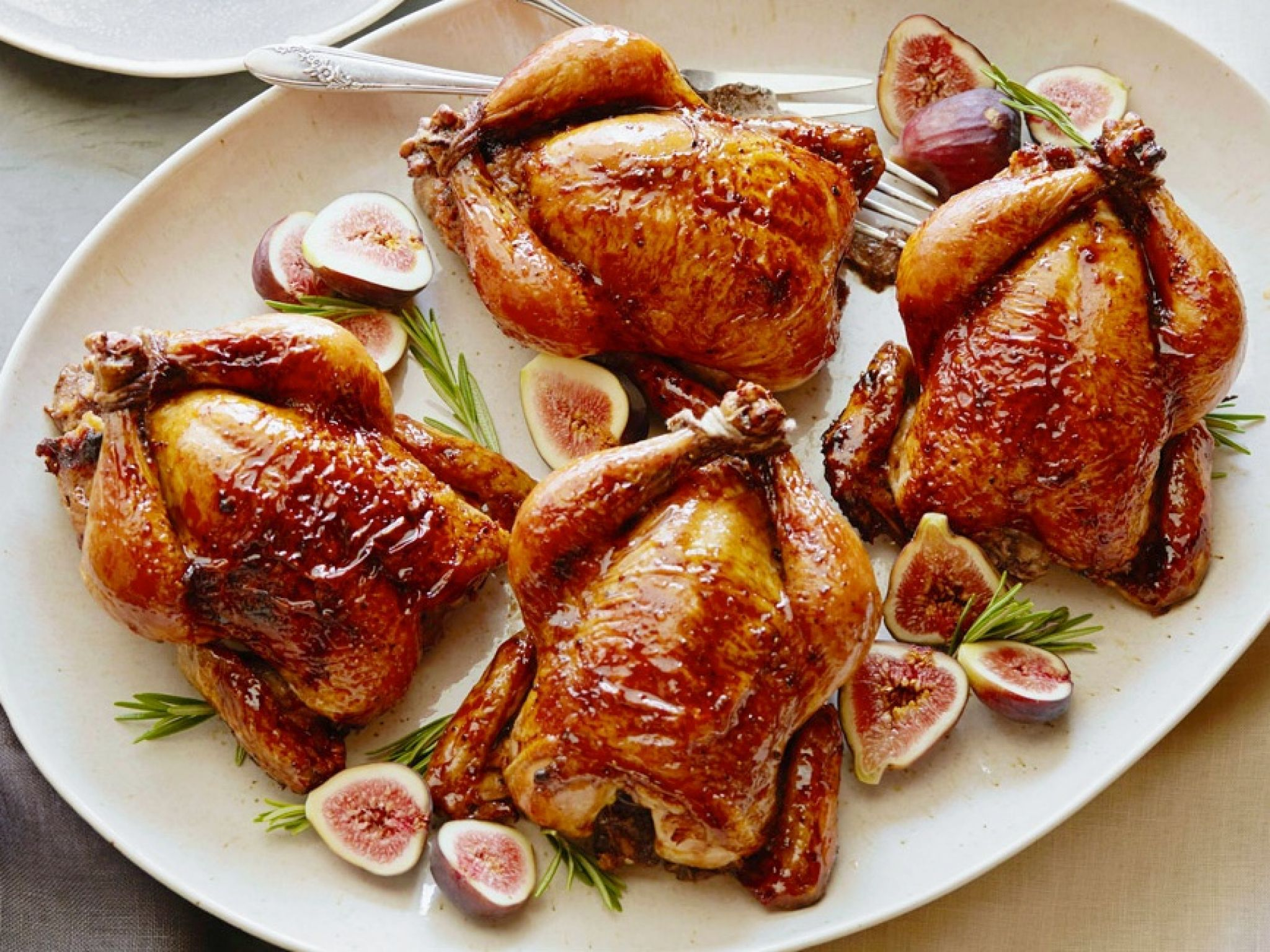 Holiday hens with fig glaze and cornbread stuffing recipe holiday hens with fig glaze and cornbread stuffing recipe pinterest tyler florence stuffing recipes and cornbread forumfinder Choice Image