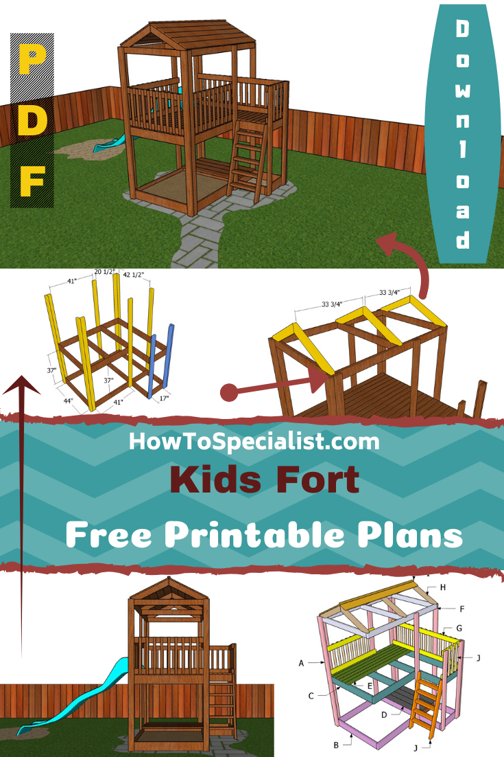 Kids Fort Plans - Free PDF Download   HowToSpecialist ...