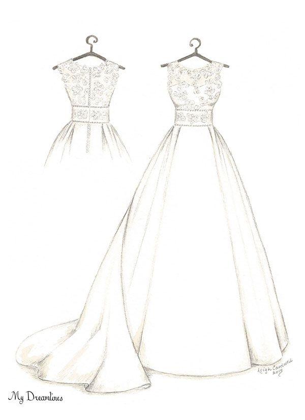 Wedding Dress Sketch Gallery | O | Pinterest | Wedding dress ...