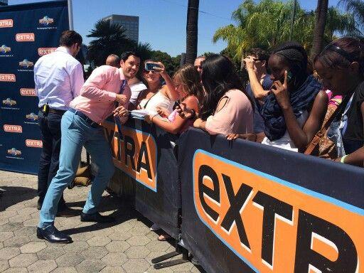 Fun times w/ @ExtraTV fans @Unistudios! @MrSilverScott & I are on tmrw w/ @MarioLopezExtra!
