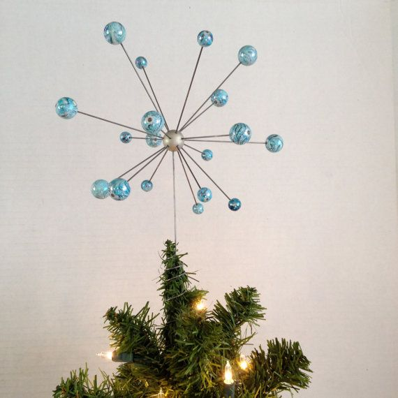 Retro Modern Tree Topper Atomic Molecular Christmas Tree Topper