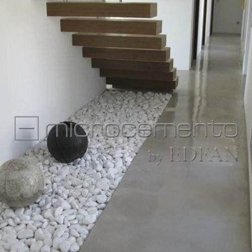Microcemento revestimiento paredes pisos escaleras casas pinterest interior stairs - Paredes de microcemento ...