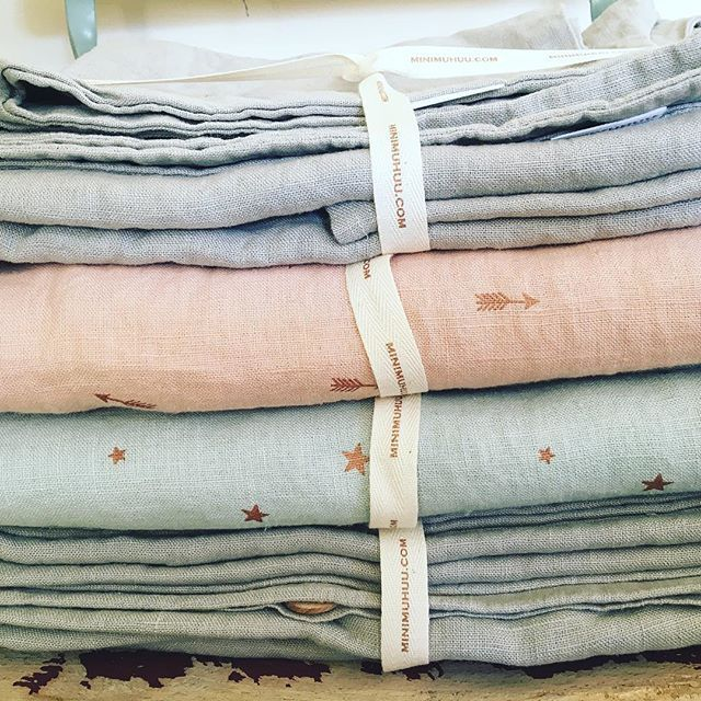 100% organic linen bedding collections to take care of your little sleeping beauty! http://petitandsmall.com/minimuhuu-organic-baby-kids-bedding/