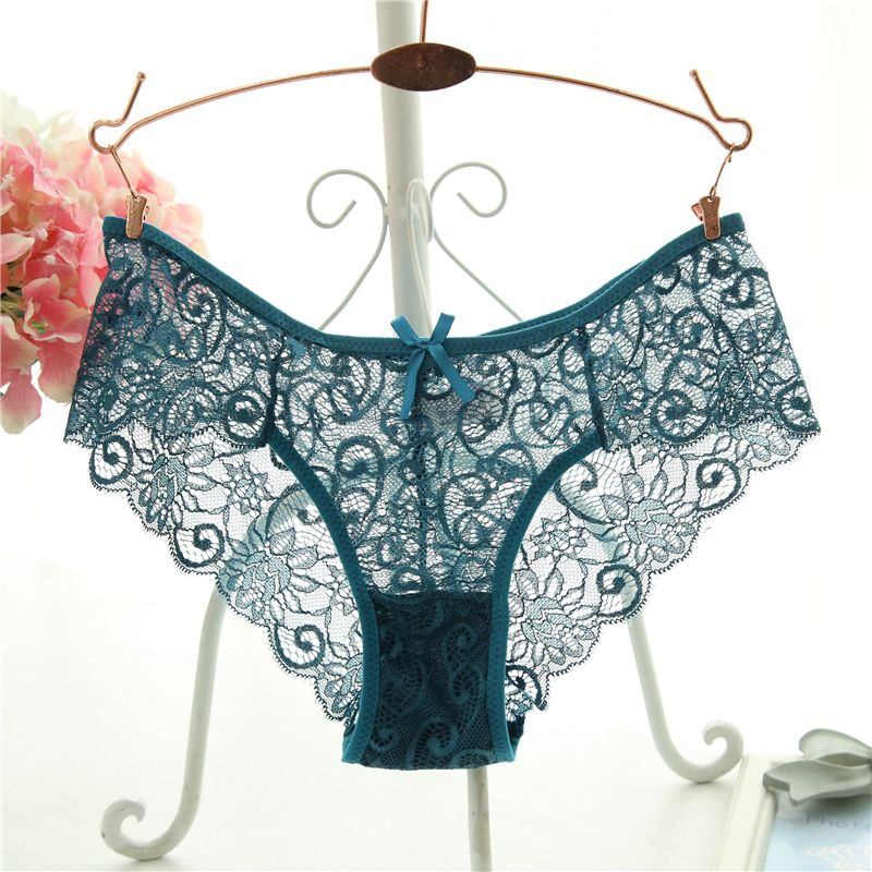 5cb039beba Plus Size S XL Fashion High Quality Women s Panties Transparent Underwear  Women Lace Soft Briefs Sexy Lingerie
