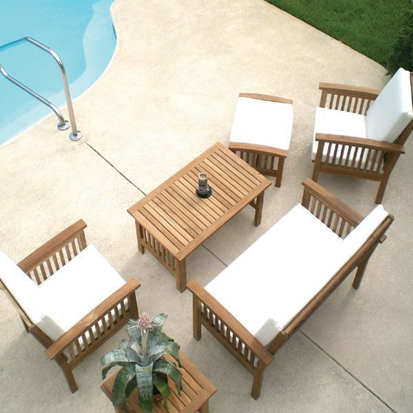 teak wood furniture, folding chairs, tables, deck furniture