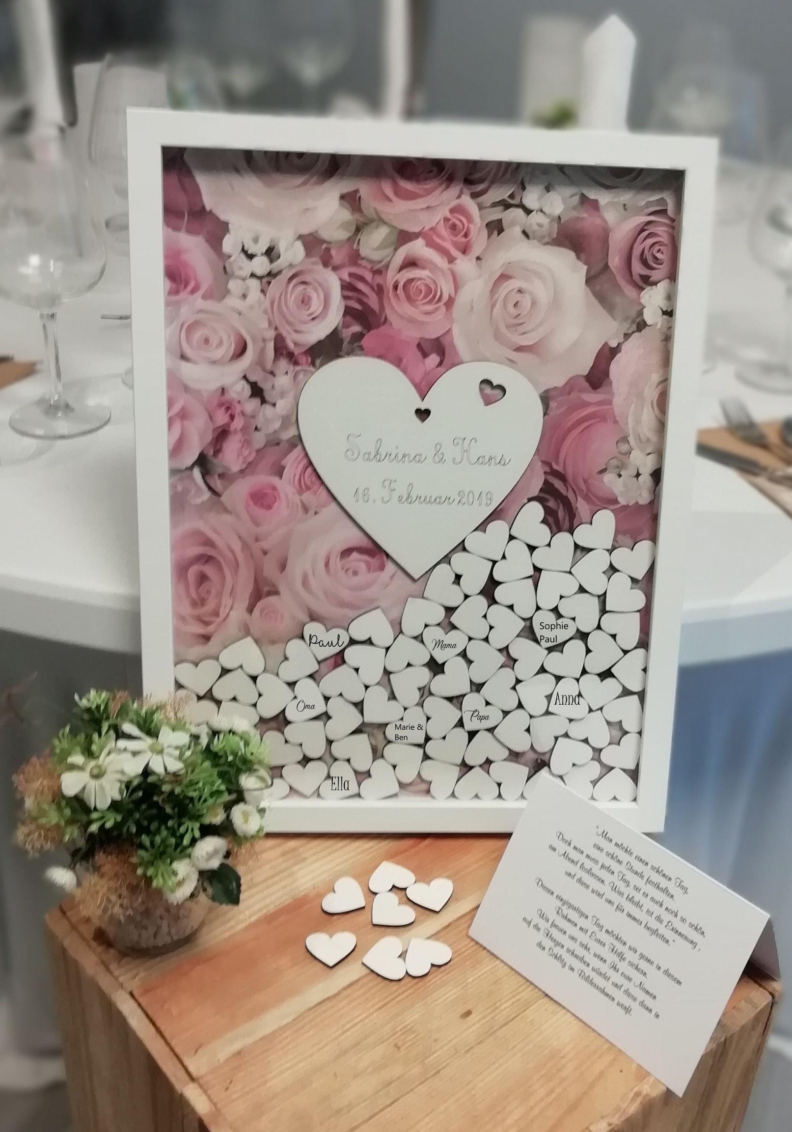 Gastebuch Zur Hochzeit Aus Holz Mit Holzherzen Vintage Rosenstyle Gastebuch Hochzeit Geldgeschenke Hochzeit Basteln Hochzeit