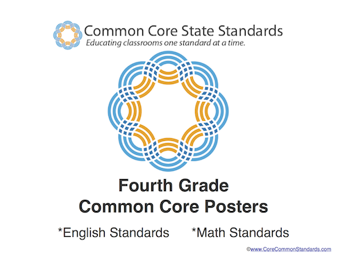 This set of Fourth Grade Standards posters includes a full page poster for all of theFourthGrade Common Core Standards. This poster set includes bothFourthGrade English Standards andFourthGrade Math Standards.This poster set will be emailed to you shortly after you place your order.