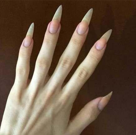 Nails Stiletto Natural Instagram 40 Ideas Vampire Nails Long Natural Nails Goth Nails