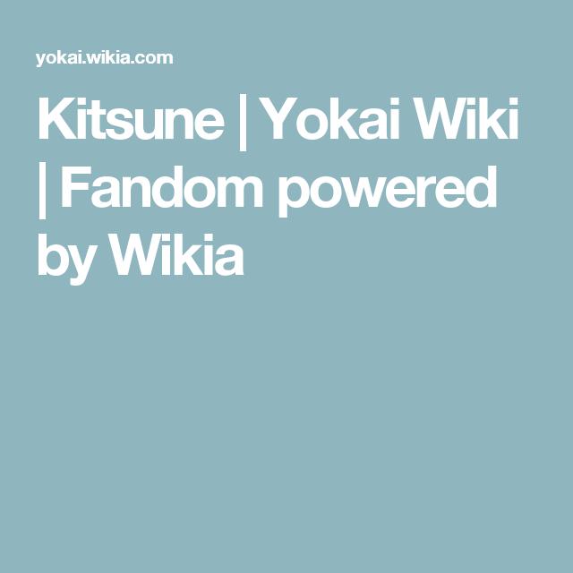 Kitsune | Yokai Wiki | Fandom powered by Wikia
