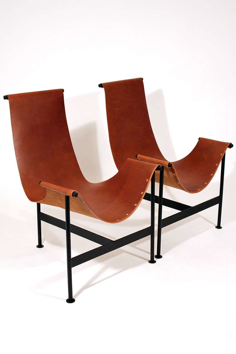 Leather sling chair - Leather Sling Lounge Chairs