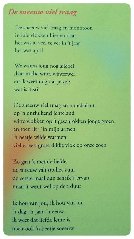 Citaten Bekende Dichters : Gedicht de sneeuw viel traag toon hermans