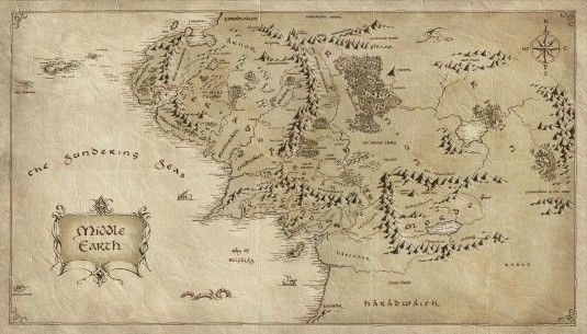 The Hobbit Map | The Hobbit | Middle earth map, The hobbit map