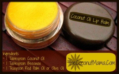 Learn how to make your own coconut oil lip balm with just a few ingredients!