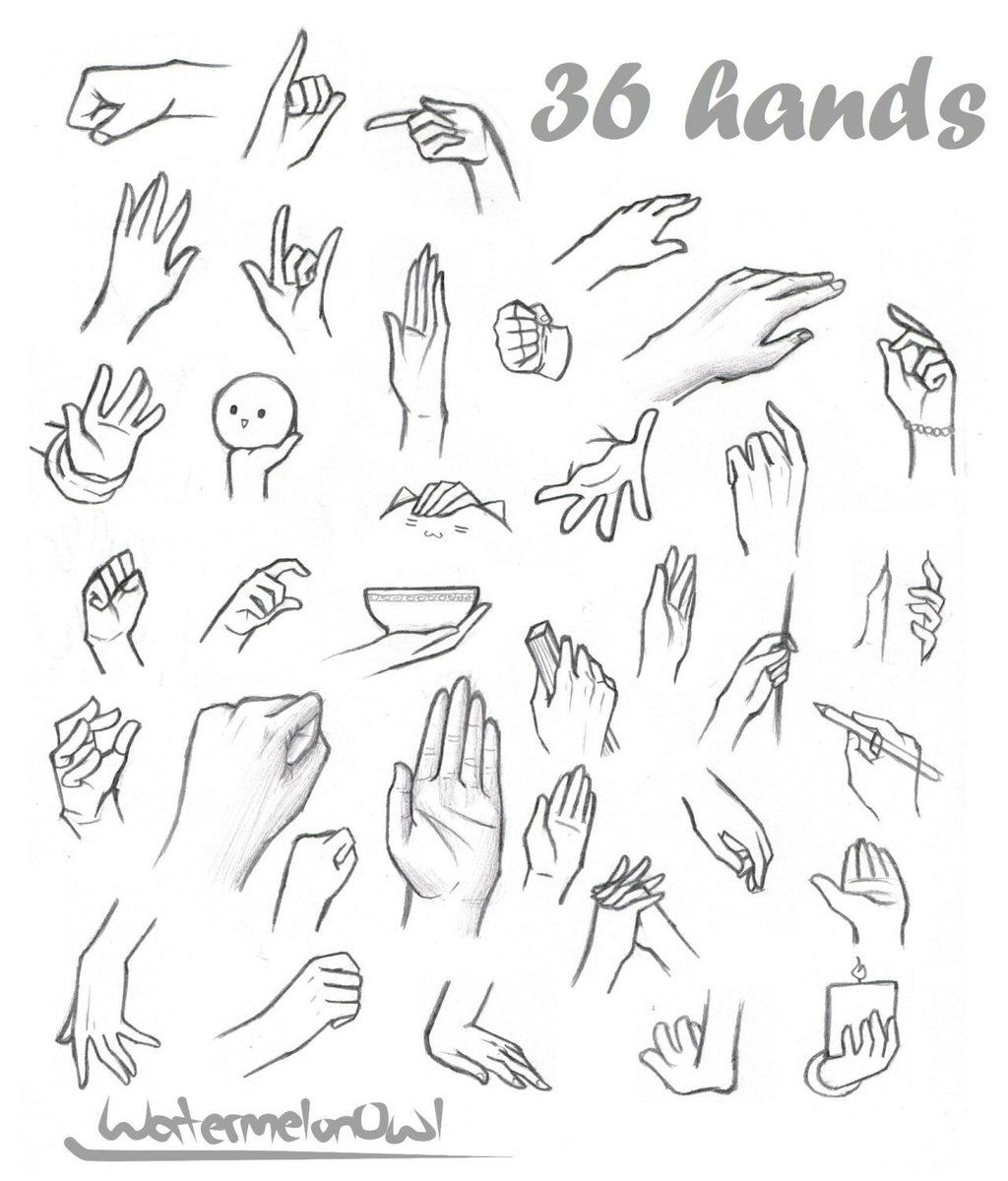 36 Hands By Watermelonowl On Deviantart Anime Hands Drawing Anime Hands Hand Drawing Reference