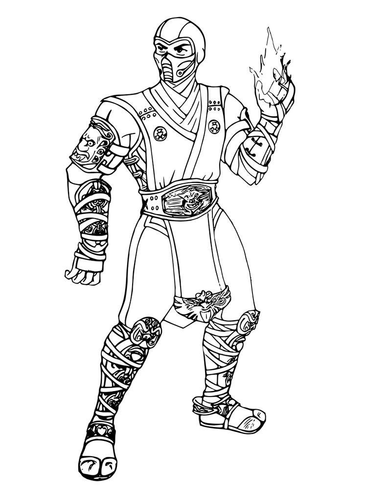 Mortal Kombat Sub Zero Coloring Pages With Images Captain