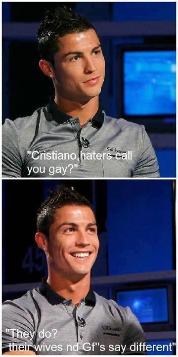 Хаха роналду гей же