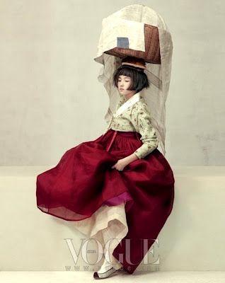 Détail de l'image -via Korea Through My Eyes: Vogue Korea: Wedding Hanbok )