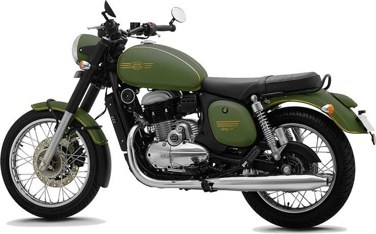Jawa 42 In Military Teal Colour And White What They Look Like