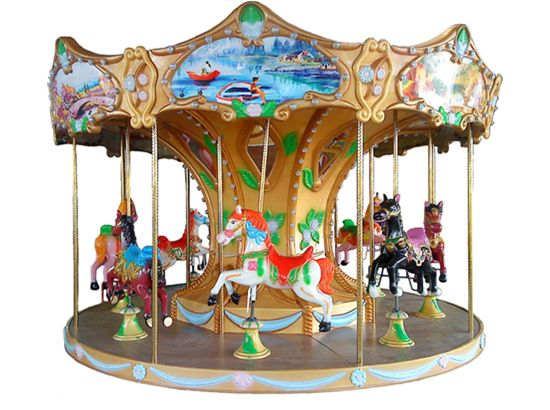 Carousel Ride With 8 Horse Kiddie Rides Carousel Amusement Park