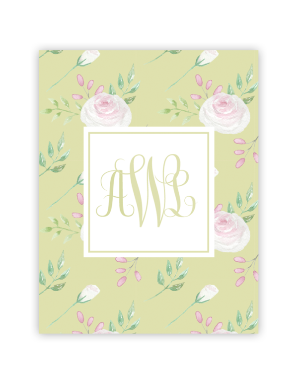 floral monogram green pink rose free printable art pinterest