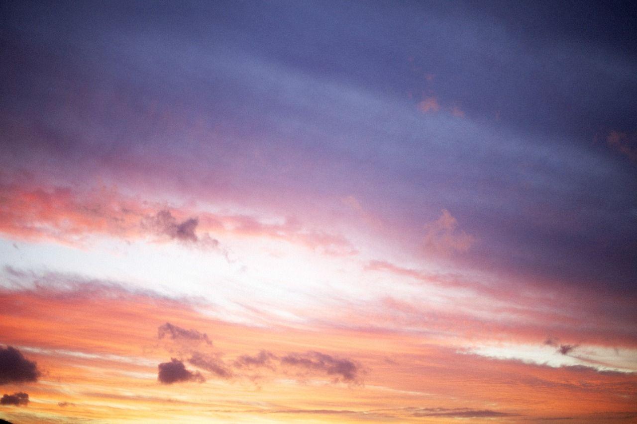 Lavender & peach sunset.