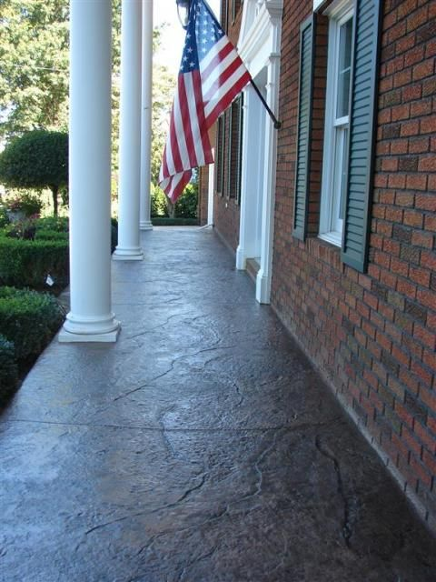 Old Granite Cleft Stone Concrete Patio Stamped Garden Landscaping Paved