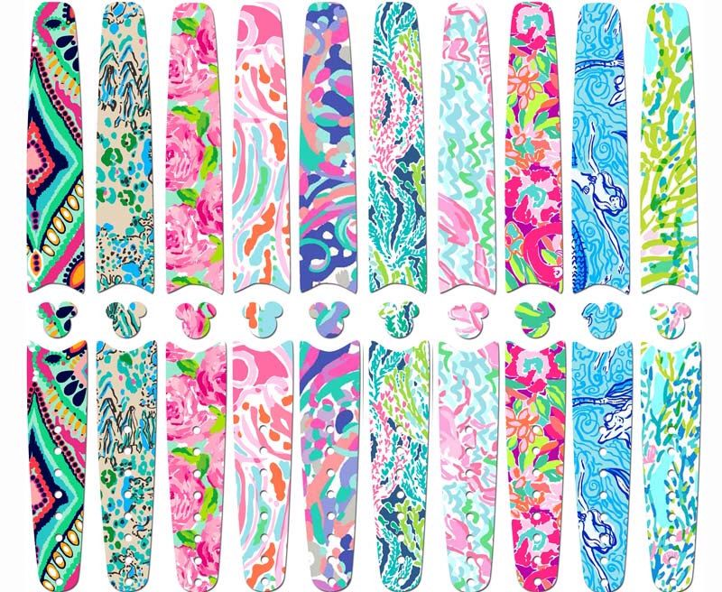 Disney magic band skins and decals lilly pulitzer inspired designs custom band stickers ready to