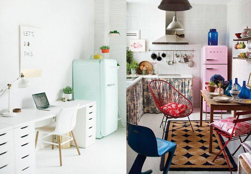 frigo smeg vert d 39 eau et rose kitchen love it frigo. Black Bedroom Furniture Sets. Home Design Ideas