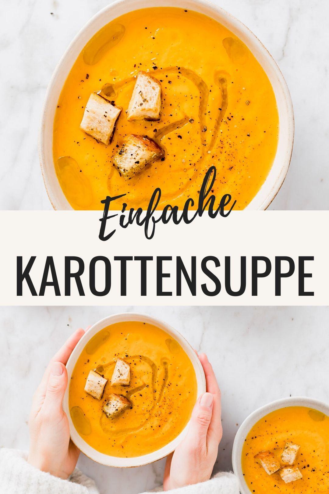 Karottensuppe mit Orange (geröstet & vegan)