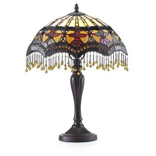 Lovely QVC Tiffany Style Lamps Prices | Tiffany Style Lu0027amour Table Lamp U2014 QVCUK.
