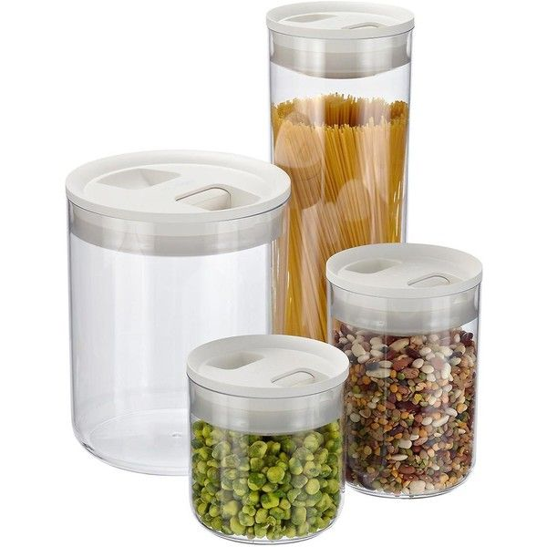 Click Clack Pantry Canisters $12 ❤ Liked On Polyvore Featuring Enchanting Glass Kitchen Containers Design Decoration