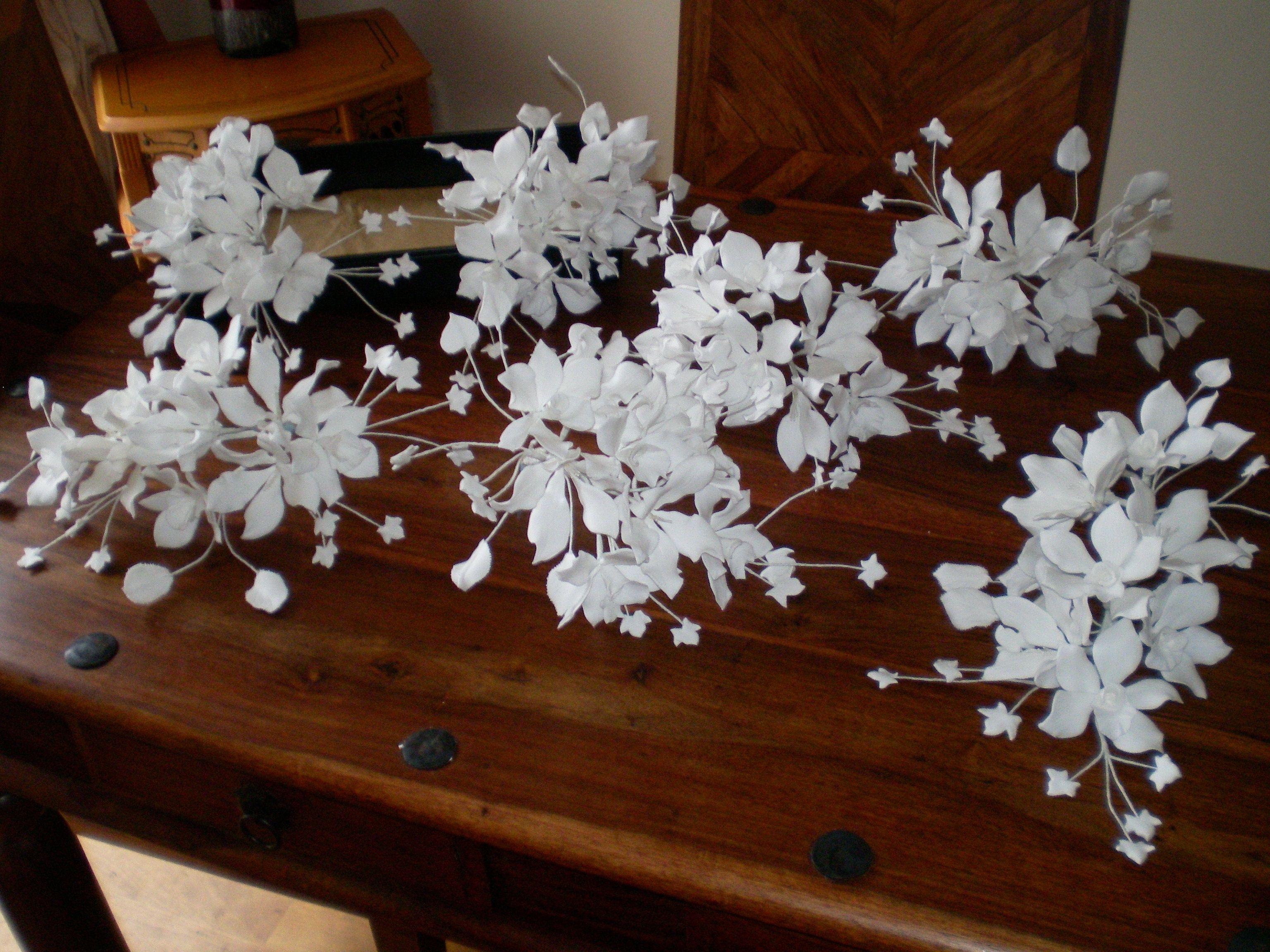 Sugar paste wedding flower sprays