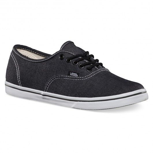 VANS Authentic Lo Pro chambray charcoal true white ...