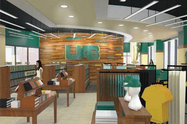 Interior Design Rendering Bookstore Google Search