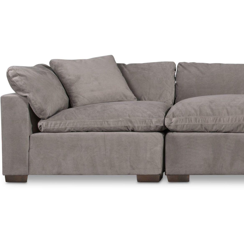 Kroehler Plush 3-Piece Sofa