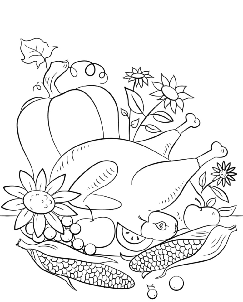Thanksgiving Coloring Pages To Print Thanksgiving Coloring Pages Coloring Pages Thanksgiving Worksheets [ 995 x 800 Pixel ]